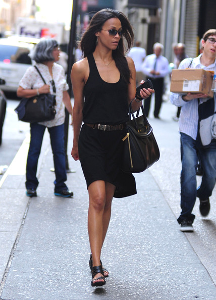 Zoe Saldana Looks Chic In All Black (LBD Included)