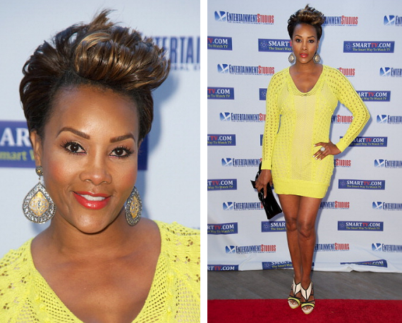 Vivica A. Fox Adds Highlights To Her Cropped Pixie Haircut