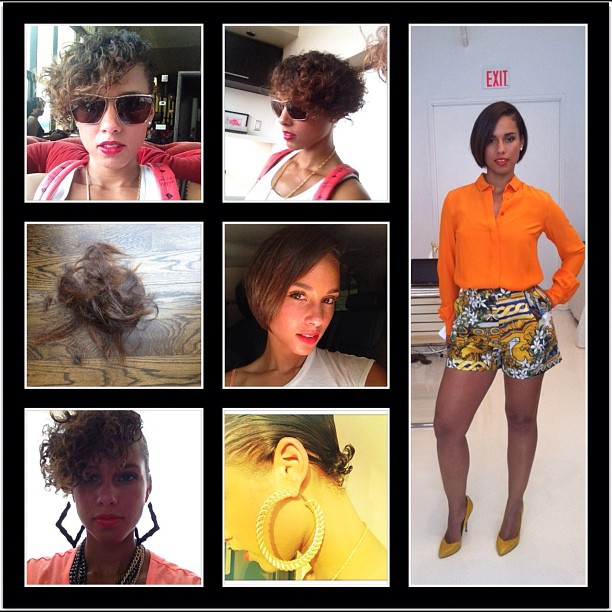 Alicia Keys Gets Cropped Bob Haircut