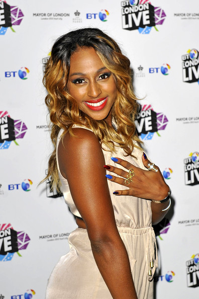 Alexandra Burke With Ombre Colored Hairstyle