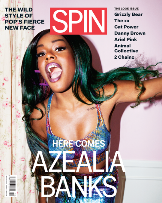 Azealia Banks Shows Of Green Haircolor On The Cover of SPIN Magazine