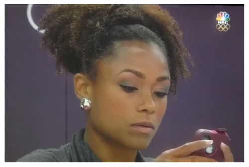Dominique Dawes Spotted At The Olympics With Natural Hair