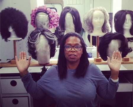 Oprah Shows Off Her Wig Collection While Wearing No Makeup