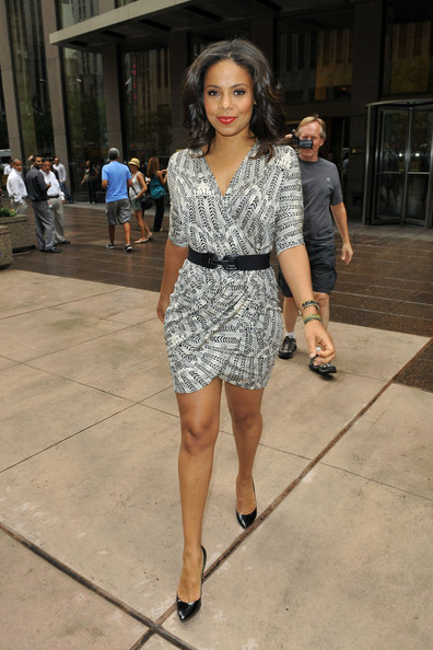 Sanaa Lathan Looks Gorgeous In Wrap Dress