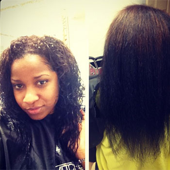 Toya Wright Shows Off Her Real Hair – Weave Free