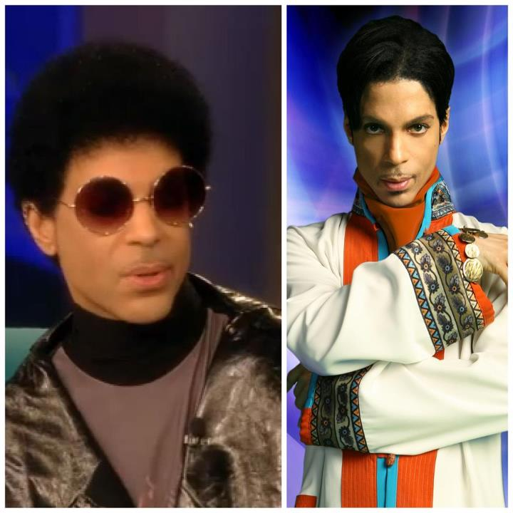 "Check Out Prince Wearing His Natural Hair ""AFRO"" On The Set Of The View"
