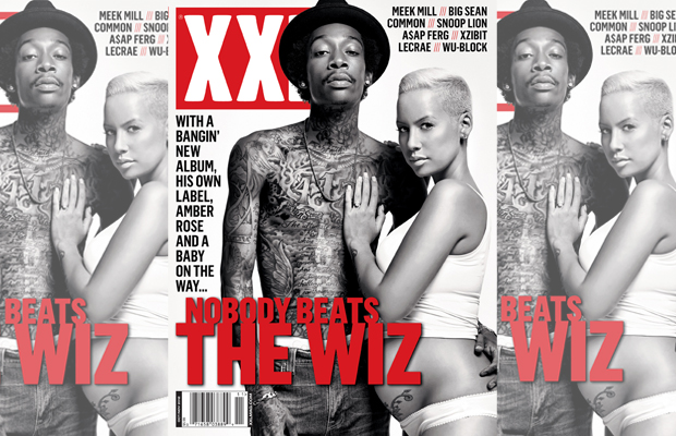 On The Cover  – Wiz Khalifa and Amber Rose Featured On XXL's October 2012 Issue