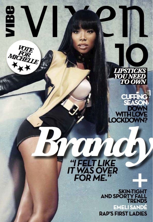Brandy Shows Off Blunt Bangs On The Cover Of Vibe Vixen Magazine and at The BET's Black Girls Rock 2012 Show