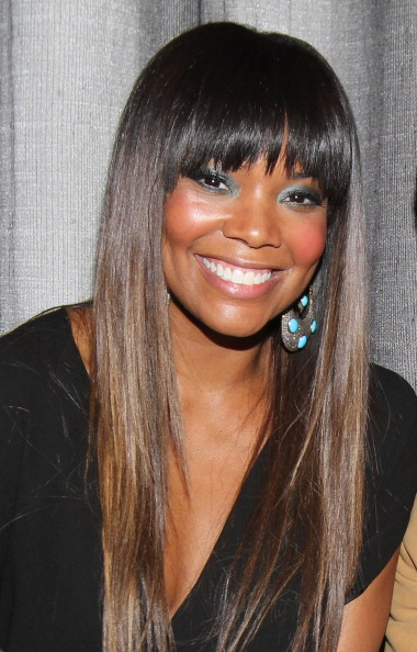 Gabrielle Union Tries A New Look Blunt Bangs and Ombre Hair Color
