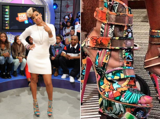Keyshia Cole Models Her Own Steve Madden Shoes
