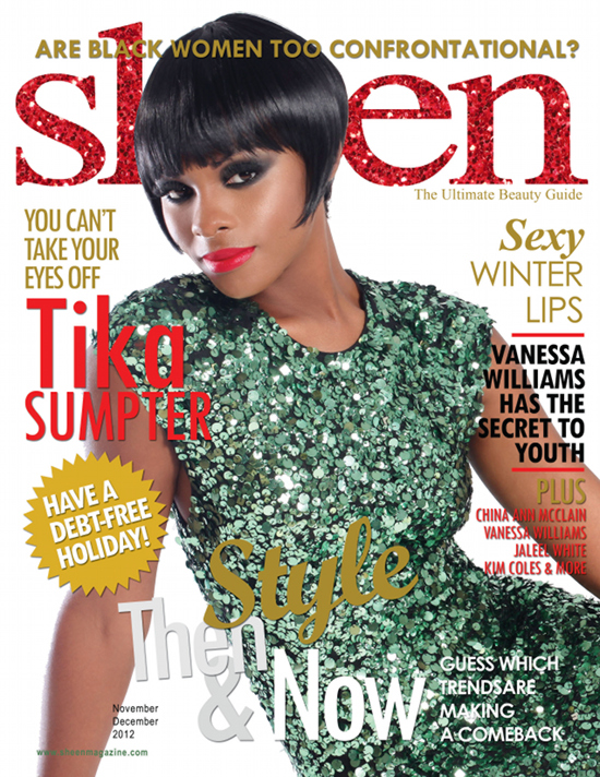 Tika Sumpter Rocks Short Haircut On The Cover of Sheen Magazine