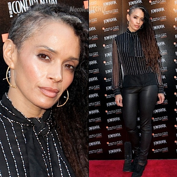 Lisa Bonet Shows Off Half Shaven Trend and Grey Hair