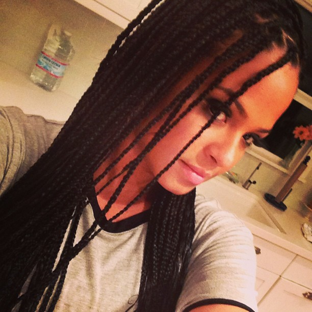 Christina Milian Tweets Pics of Her New Box Braids