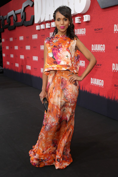 Kerry Washington Stuns The Red Carpet For 'Django Unchained' Premieres