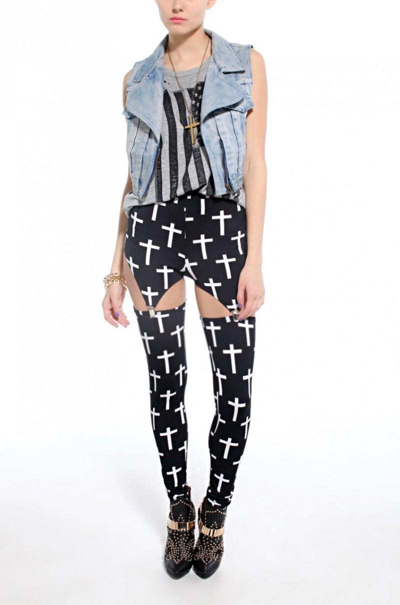 Are You Bold Enough To Work This Trend -  Garter Clip Leggings 3