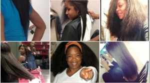 Celebs show off real natural hair