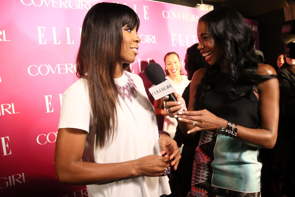 Kelly Rowland Shows Off Sombre ( Subtle Ombre Hair Trend ) 2