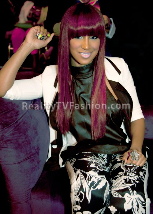 "Olivia's Red Hair Color and Blunt Bangs From ""Love & Hip Hop New York"" Reunion Show 3"
