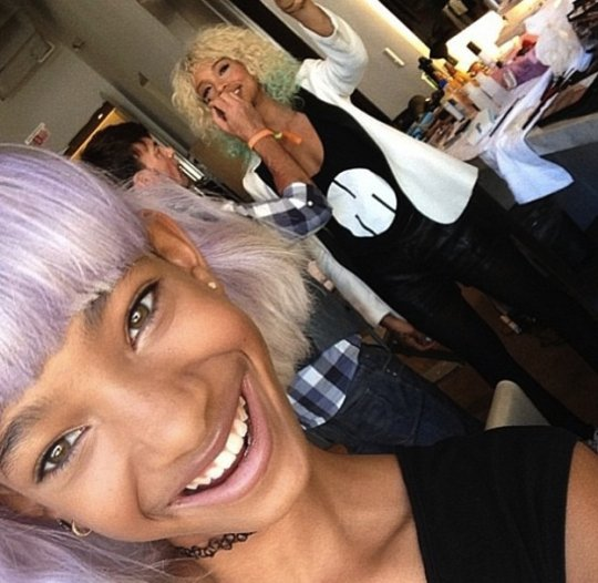 Willow Smith Shows Of Purple Haircolor 2