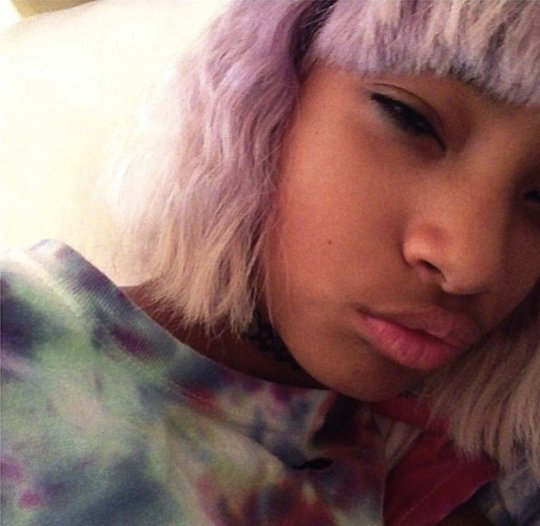 Willow Smith Shows Of Purple Haircolor 3