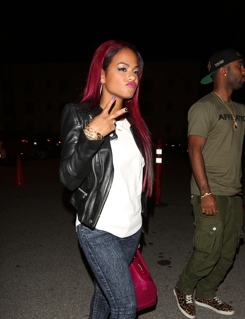Christina Milian Goes Red, See Her New Red Hair Color