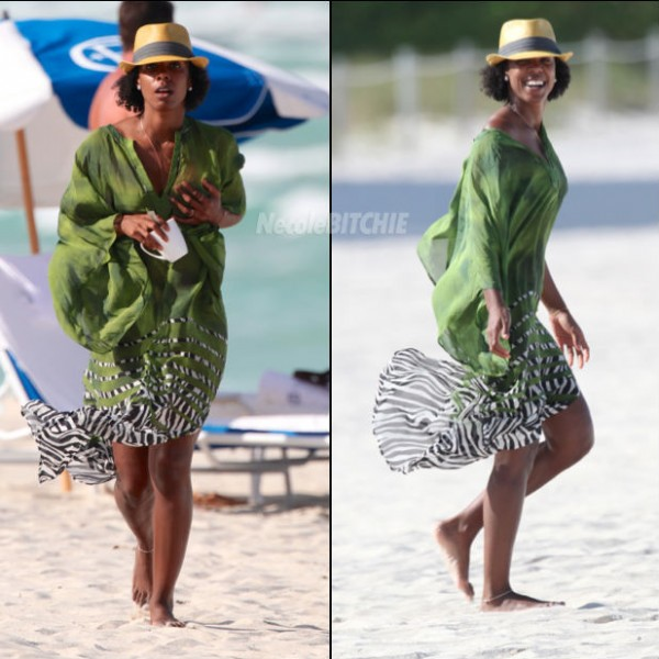 Natural Hair Beach Styles : Kelly Rowland Shows Off Her Natural Curls