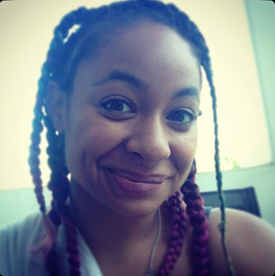 Raven Symone's With Colorful Braided Hairstyle
