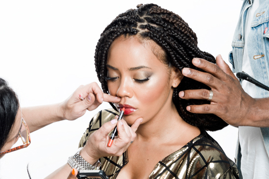 angela simmons shows off two hot summer hair trend ombre