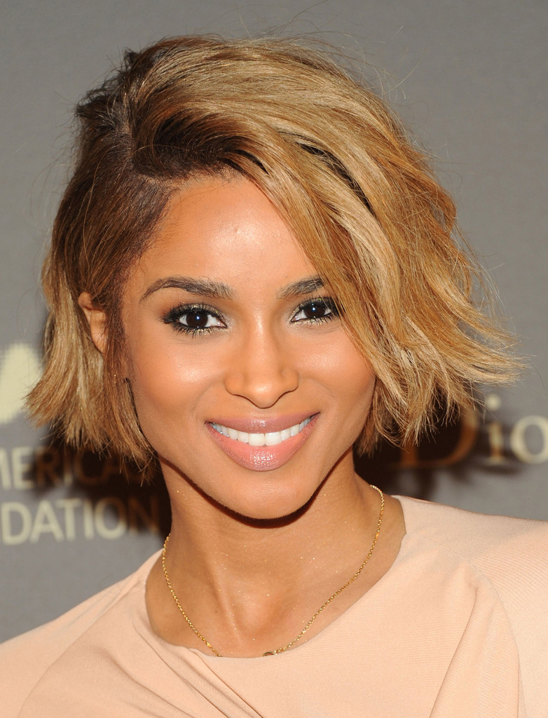 Ciara Rocking A Sexy Chin Length Bob Haircut