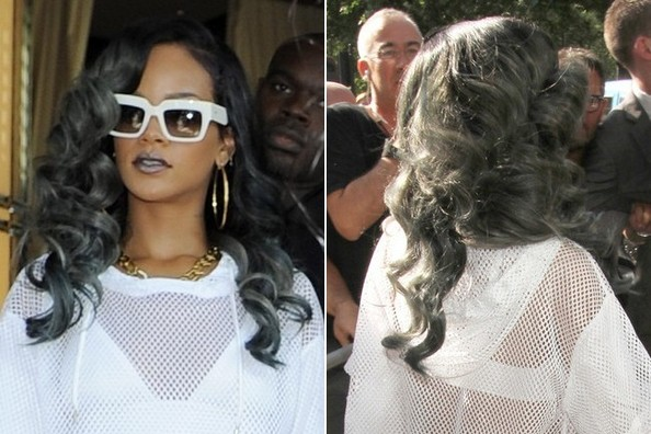 Rihanna's New Gray Hair Color 3
