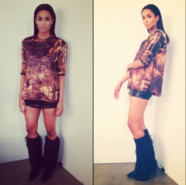 Ciara Goes Back To Black Locks 3