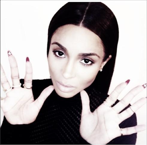 Ciara Goes Back To Black Locks 4