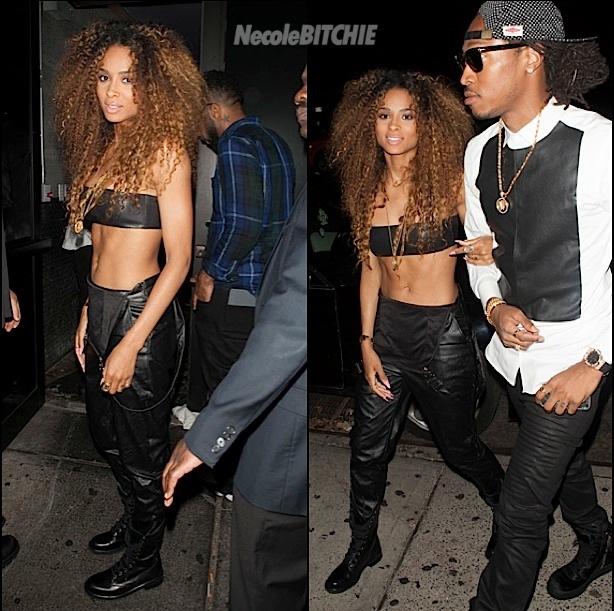 Ciara Rocks Honey Brown Tight Curly Hairstyle 2