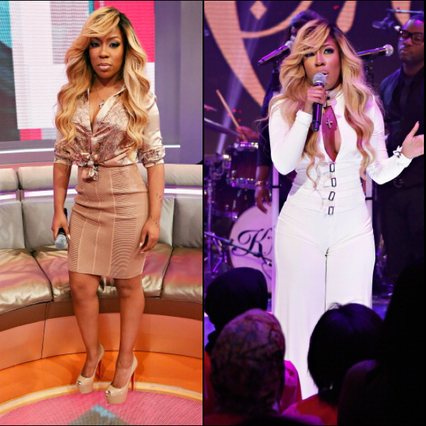 K.Michelle Debuts New Blonde Hair Color
