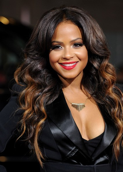 Christina Milian Loses The Red Hair And Goes Ombre The
