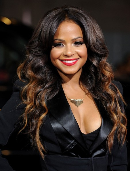 Christina Milian Loses The Red Hair and Goes Ombre