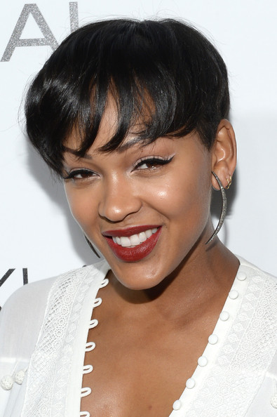 Meagan Good's Curls Turn Into A Fresh Bowl Haircut 2