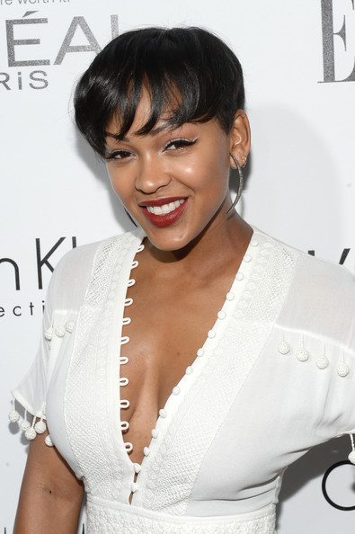 Meagan Good's Curls Turn Into A Fresh Bowl Haircut