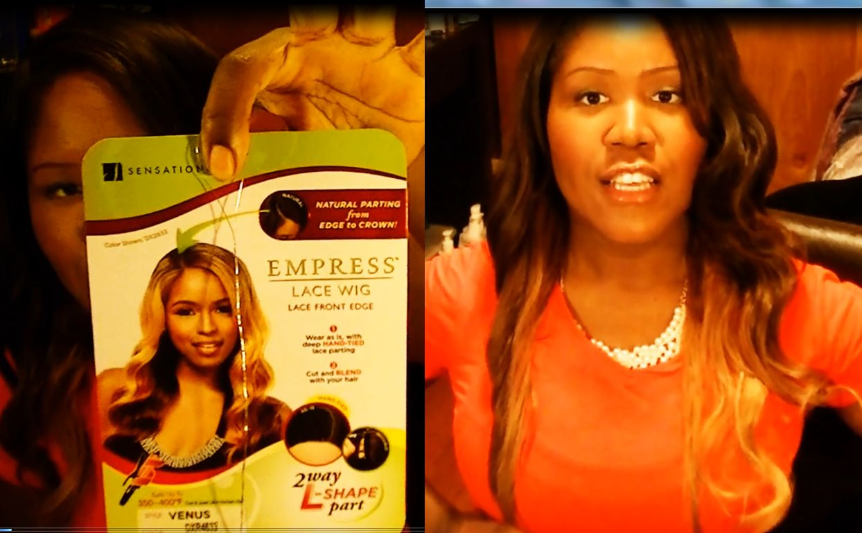 SENSATIONNEL LACE FRONT EDGE WIG L PART VENUS UNBOXING