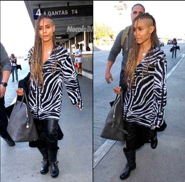 Jada Pinkett-Smith Adds Box Braids To Her Shaven Hairstyles