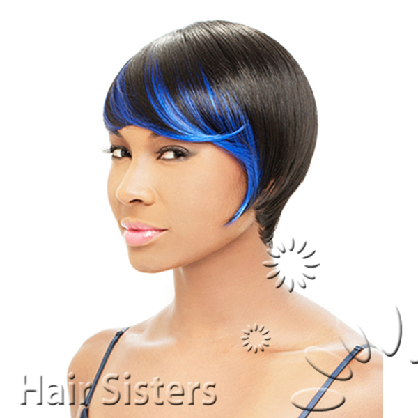 Now Trending - Blue Hair Colored Weave 3