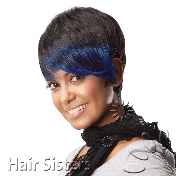 Now Trending - Blue Hair Colored Weave 4