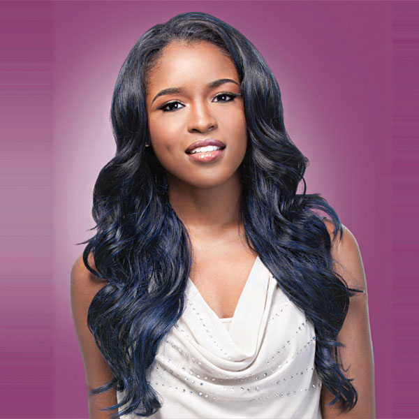 Now Trending - Blue Hair Colored Weave