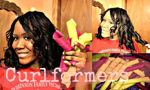 New Extra Long Barrel Curls Size From Curlformers - Heat Free Roller Set