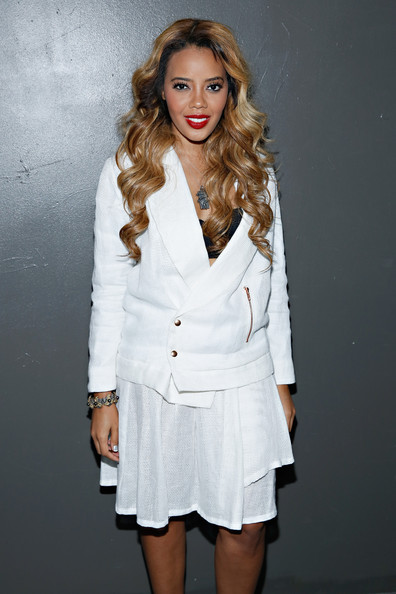 Angela Simmons Joins Blonde Hair Trend