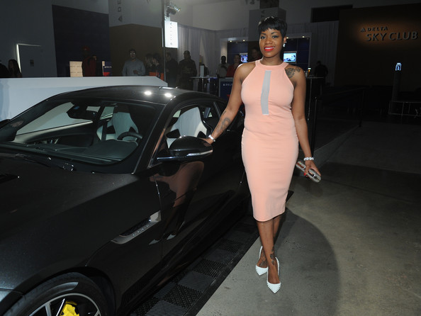 Fantasia Shows Off Her Curves In Pink Mesh Dress 3