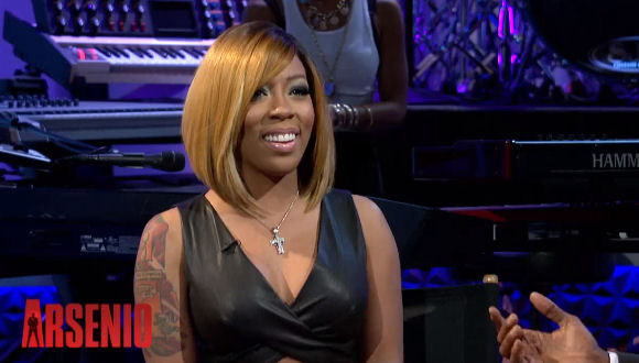 k michelle shows off new blonde bob haircut � the style