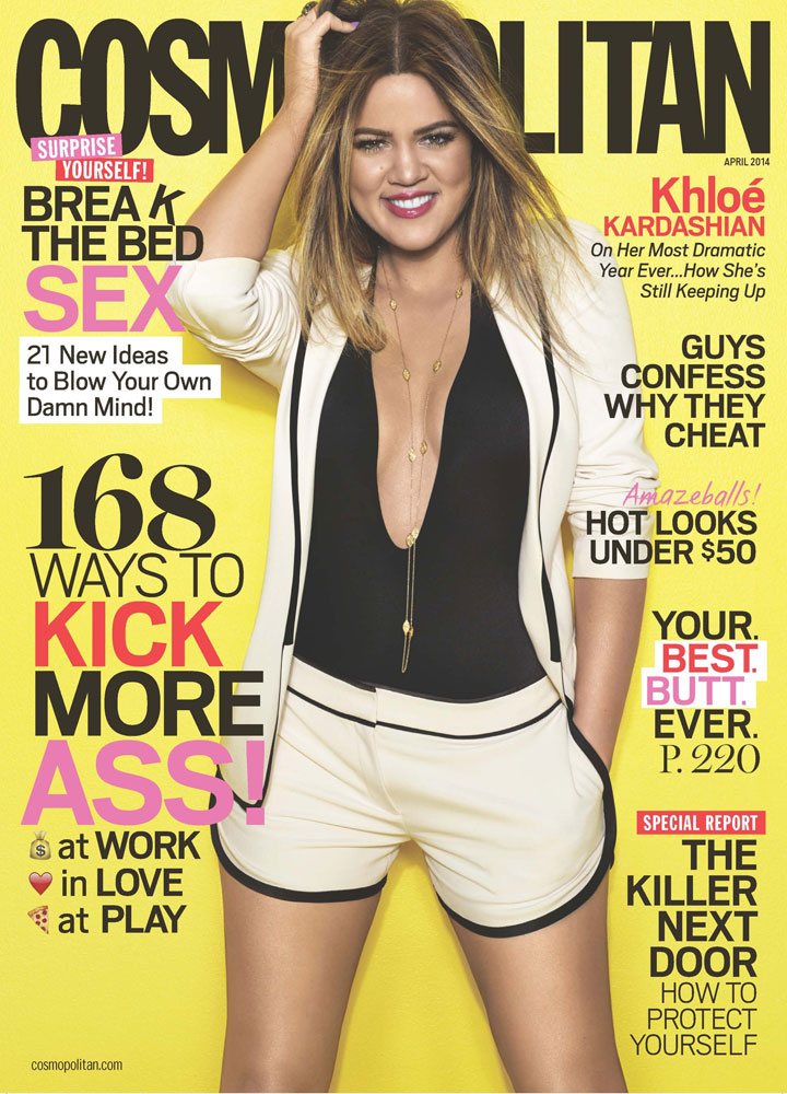 Khloe Kardashian Rocks The Cover of Cosmopolitan April 2014 5