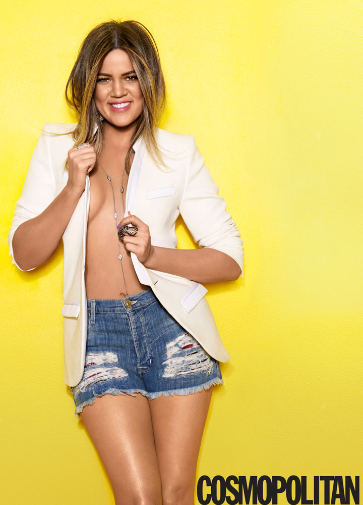 Khloe Kardashian Rocks The Cover of Cosmopolitan April 2014