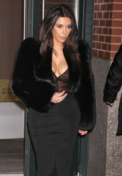 Kim Kardashian Tries Out Fur Coat Trend 2